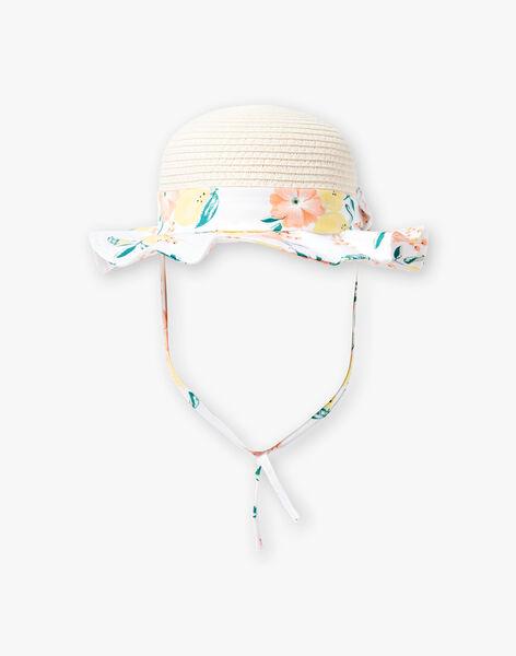 Beige und weißer Hut Baby Mädchen ZANAE / 21E4BFO1CHA801