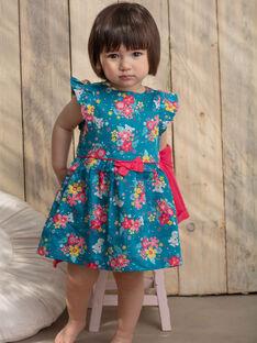 Baby Mädchen Ente blau und rosa Kleid und Blümchen mit Koalas und Blumen TAVANILLE / 20E1BFX1CHS210
