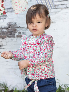 Baby Mädchen Langarm Bluse mit Blumendruck BAADELINE / 21H1BF11CHE001