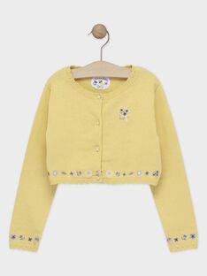 Gelbe Strickjacke für Mädchen TOICAETTE / 20E2PFO1CAR103