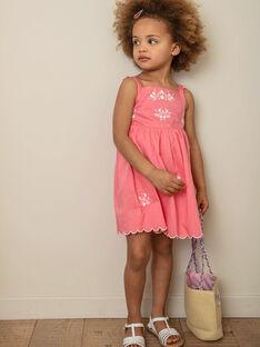 Rosa Kleid mit weißem Blumenmuster Kind Mädchen ZUKOKETTE / 21E2PFT2CHSD313