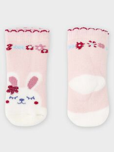Baby-Socken aus Bouclé für Mädchen, rosa TADIVA / 20E4BFC1SOQ301