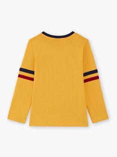 Jungen-T-Shirt in Gelb und Marineblau BEDOUAGE / 21H3PG51TMLB114