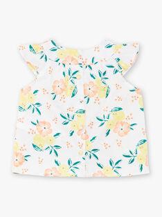 Weiße Bluse Baby Mädchen ZANINA / 21E1BFO2CHE000
