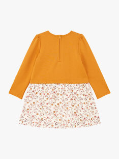 Zweifarbiges langärmeliges Kleid für Mädchen BUROBETTE / 21H2PFJ2ROB804