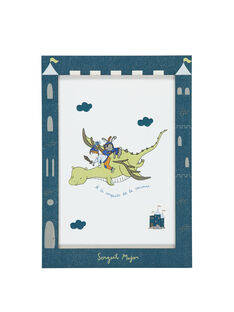 "Blaues Poster ""Drache"" RODRAGAFF / 19EZLAX2AFF221"