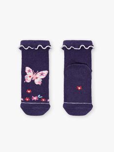 Marineblaue Schmetterlingssocken ZAFIDELE / 21E4BFB1SOQ216