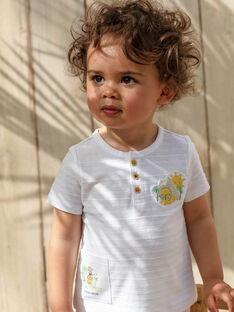 Ecrufarbenes Baby-T-Shirt Baby Jungen TARAFFY / 20E1BGQ1TMC001