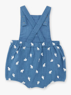 Blauer Strampler Baby Junge blauer Latzhose TAREDORE / 20E1BGQ1BARC235