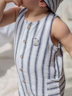 Tinte blau und weiß Baby Junge Jumpsuit ZAOTIS / 21E1BGT2CBLC214