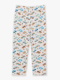 Türkisfarbener langärmeliger Pyjama für Jungen mit Auto- und Verkehrsmotiven BECARAGE / 21H5PG67PYJ202