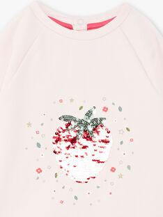 Rosa Erdbeere Pailletten Sweatshirt ZESWETTE 2 / 21E2PFJ1SWE301