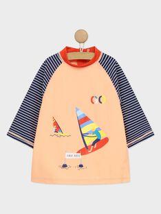 Orangefarbenes T-Shirt mit UV-Schutz RUVAGE / 19E4PGN1TUVE403