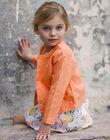 Orange Jacke Kind Mädchen ZIJAKETTE / 21E2PFO1VES406