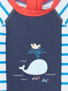 Weißer Baby-Badeanzug für Jungen ZIRENAUD / 21E4BGR2CBBC201