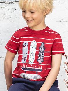 Baby Boy's rot und weiß gestreiftes T-Shirt BADROAGE / 21H3PG11TMC050