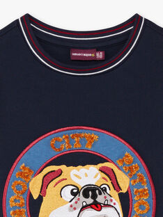 Jungen-T-Shirt in Marineblau BEDODAGE / 21H3PG53TML070
