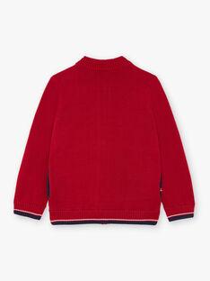 Rote Strickjacke für Jungen BUXATAGE3 / 21H3PGB1GIL501