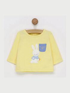 Gelbes langärmeliges T-Shirt RYABDEL / 19E0CG11TML010