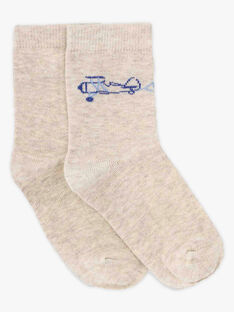Beige lange Socken für kleine Jungen TIBAGE / 20E4PGJ1SOQA013
