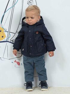 Baby Boy Wende-Kapuzenjacke navy blau BIOLIVE / 21H1BGD1DML070
