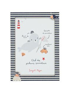 """Weißes Poster """"Seemann"""" ROPHOQAFF / 19EZLAX3AFF001"""