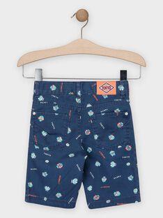 Marineblaue Bermuda-Shorts mit Roboterdruck für Jungen TIXAGE / 20E3PGP3BERC205