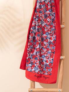 Blaues und rotes Blumenmuster Strandtuch Kind Mädchen ZAIVYETTE / 21E4PFR1SRV050