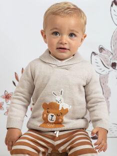 Baby Boy's Beige Teddybär & Kaninchen Pullover BALOUIS / 21H1BGJ1PUL811