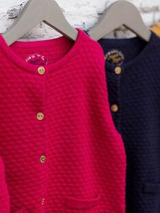 Strickjacke für Mädchen in Fuchsia BRODIGETTE2 / 21H2PFB1CAR304