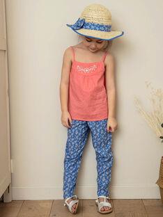 Kinder blaue Hose Mädchen ZUPATETTE1 / 21E2PFT1PANC208