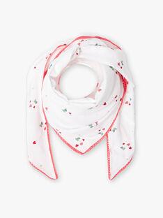 Ecru und rosa Erdbeere Druck Schal. ZOCOETTE / 21E4PFJ1FOU001