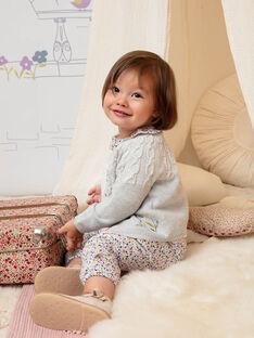 Baby Mädchen grau gestrickt Strickjacke BACANELLE / 21H1BF21CAR943