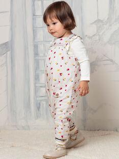 Beige ärmellosen Overall mit blumigen Druck Baby Mädchen BAEMMA / 21H1BF51SALA011