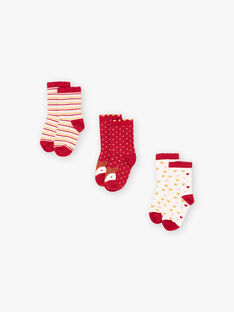 Set mit 3 Paar sortierten Socken für Baby-Mädchen BROFUETTE / 21H4PFB1LC3001