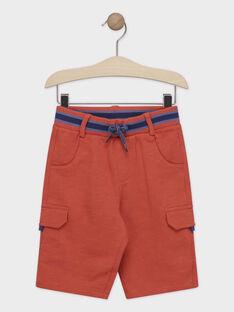 Bermuda-Shorts orange Jungen TYTOPAGE 2 / 20E3PGM4BERF525