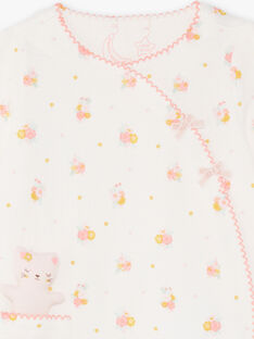Baby Mädchen gelb und rosa Strampler mit Plüschdruck BEBELLE / 21H5BF64GRE001