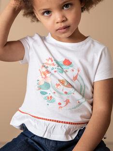 T-Shirt aus weißem Baumwoll-Jersey ZELOUNETTE / 21E2PFI1TMC001