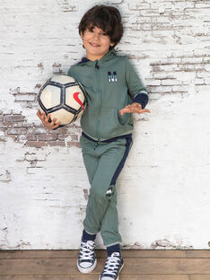 Baby Junge khaki und marineblau Jogginghose BANUAGE2 / 21H3PG31JGB604