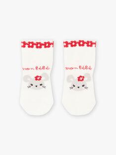 Baby Mädchen ungebleichte Socken mit ausgefallenem Muster BAAVENIR / 21H4BF11SOQ001