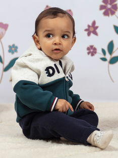 Baby Boy's zweifarbiger Dinosaurier-Kapuzenpullover BAJOSSELYN / 21H1BG91GILA013