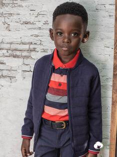 Dunkelblaue Strickjacke für Jungen BUXATAGE1 / 21H3PGB3GIL070