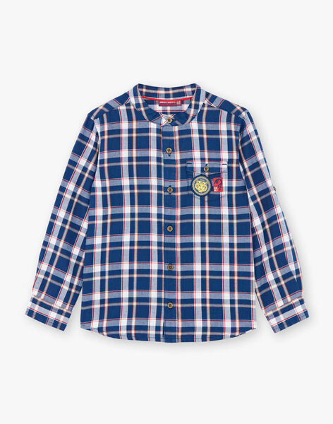 Blau-weiß kariertes Hemd aus Baumwollköper ZAGRAGE / 21E3PGI1CHM705