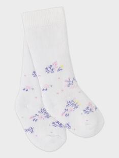 Baby-Socken aus Bouclé für Mädchen, weiß TYHELEN / 20E0AFF1SOQ000