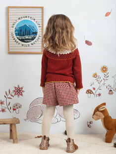 Rot karierter Rock-Short für Mädchen BUSHOETTE / 21H2PFJ1SHO001
