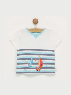 Weißes kurzärmeliges T-Shirt mit Muster RAGABRIEL / 19E1BGD1TMC001