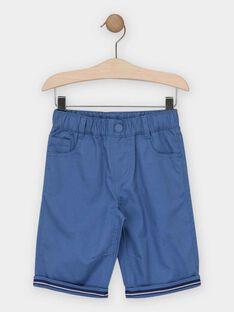 Blaue bedruckte Bermuda-Shorts Jungen TYROUAGE 2 / 20E3PGM1BERC240