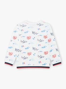 Weißer Hai Druck Sweatshirt farbig Kind Junge ZISOULAGE / 21E3PGT1SWE000