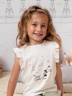 Mädchen-T-Shirt in Ecru BETOETTE / 21H2PF21TMC001