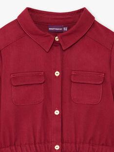 Baby Mädchen rot safari Kleid BRORECETTE2 / 21H2PFB7ROB719